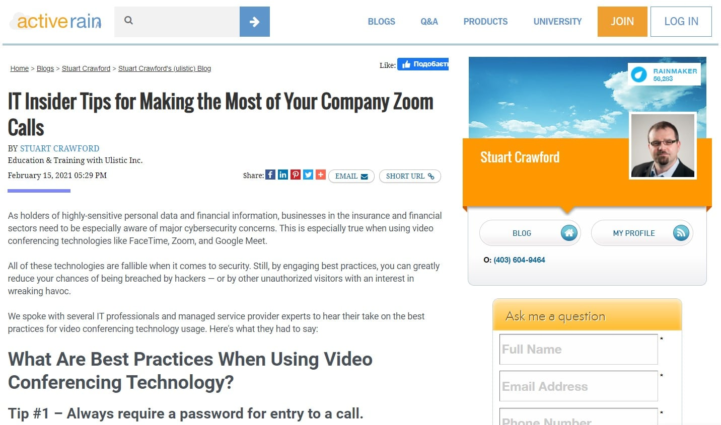 IT Insider Tips for Making the Most of Your Company Zoom Calls
